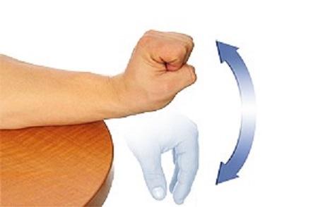خمیدگی و کشش مچ دست