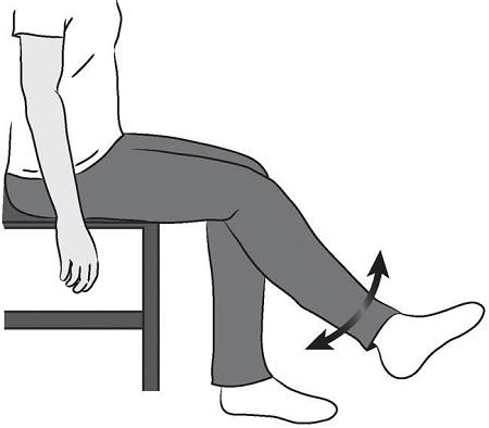 خم کردن زانو در حالت نشسته بدون کمک