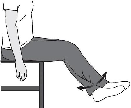 خم کردن زانو در حالت نشسته