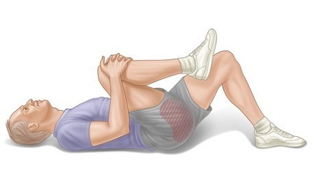 چسباندن یک پا به قفسه سینه